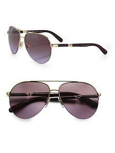 Dolce & Gabbana - Semi-Rimless Aviator Sunglasses - Saks.com