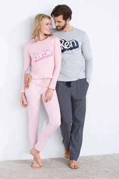 Barbie and Ken pajamas; Pyjamas, Bridal Nightwear, Pijamas Women, Couple Pajamas, Cute Pjs, Cute Sleepwear, Mode Chanel, Pajama Outfits, Looks Black