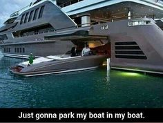 Let me just park my boat in my boat