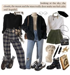Cool dark academia aesthetic outfit 88 on interior design for home remodeling with dark academia aesthetic outfit Retro Outfits, Cute Casual Outfits, Vintage Outfits, Aesthetic Fashion, Aesthetic Clothes, Aesthetic Outfit, Aesthetic Dark, Aesthetic Bedroom, Summer Aesthetic