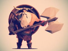 Low Poly Viking by Jona Dinges