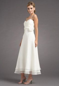 Simple and beautiful Ballerina length Bridal gown