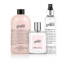 Philosophy Amazing Grace ~ I'm hooked on this smell. I shower and wash my hair with it, I spray it on my clothes, even on my bed sheets. So fresh and so clean!