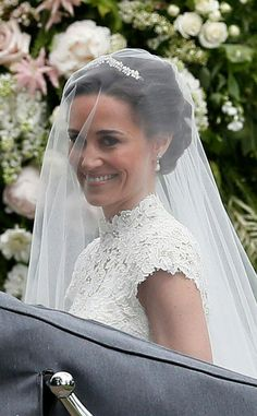 Pippa Middleton Is Married - See Her Wedding Photos Here!: Photo Pippa Middleton is officially a married woman after tying the knot with hedge fund manager James Matthews! The socialite and younger sister of the… Carole Middleton, Middleton Family, Pippa Middleton Honeymoon, Pippa Middleton Wedding Dress, Pippas Wedding, Wedding Robe, Wedding Dresses, Wedding Photos, Wedding Outfits