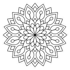 Mandala Des Flower kostenlose Vector - Amee House - Coloring pages - Mandalas Painting, Mandalas Drawing, Mandala Coloring Pages, Coloring Book Pages, Dot Painting, Coloring Sheets, Silk Painting, Mandala Design, Mandala Floral