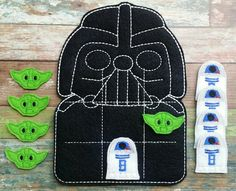 Darth Tic tac toe game made and sold by Heart Felt Embroidery. $10.00! www.facebook.com/heartfeltembroidery Purchase at www.heartfeltembroidery.net