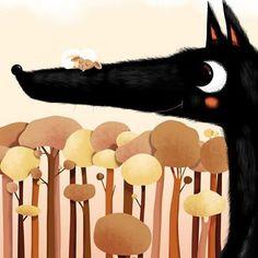 #luciebrunellière #wolf #sheep #sweet #cute #instaart #instapic #instagood…