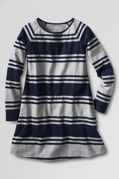 Girls' Long Sleeve Knit Pull-over Dress from Lands' End