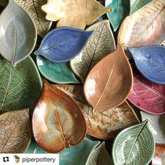 """46 Likes, 1 Comments - OOAKArtisanShowcase (@ooakartisans) on Instagram: """"Love leaves! #ooakartisans .. . #Repost @piperpottery (@get_repost) ・・・ #leaf #leaves #pottery…"""""""