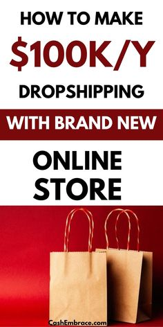 How to make money dropshipping with a brand new online store: make money dropshipping even if you have no online business experience.  You can make money online when you build your own online store.  See dropshipping tips and ideas that will show you how to earn an online income of $100,000/year.#makemoneydropshipping#makemoneyonline#businesstips Make Money Blogging, Make Money From Home, Way To Make Money, Make Money Online, Ecommerce Jobs, Business Tips, Online Business, Starting An Online Boutique, Dropshipping Suppliers