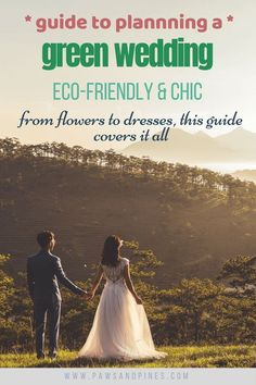 Planning an Eco-Friendly Wedding   Here are some of the best ideas for having a green wedding celebration. Whether you're zero-waste or just want to be a little better to the environment, you can make these easy swaps like renting a dress, or giving useful party favors, keeping reception close to the wedding venue, using real plates, and more! #ecofriendly #wedding