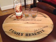 LIMITED EDITION - Authentic Pappy Van Winkle Bourbon Barrel Head | Pappy & Company Best Bourbons, Hey Bartender, My Old Kentucky Home, Bourbon Barrel, Distillery, Kitchen Towels, Bamboo Cutting Board, Wraps, Gifts