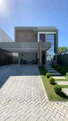 Minimal House Design, Modern Small House Design, Modern Villa Design, Modern Exterior House Designs, Dream House Exterior, Home Interior Design, House Arch Design, Architect Design House, House Outside Design