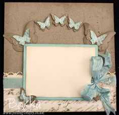 6x6 Scrapbook Page with Attic Boutique Papers from Stampin' Up!   I would love to see this made into a 12 X 12 page...gorgeous!