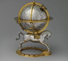 Discover the Art Treasures of the Metropolitan| Celestial Globe with clockwork-1579,Austrian,Vienna