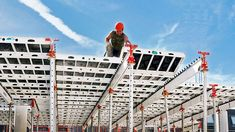 The proven aluminium panelized slab formwork with very fast shuttering times Construction Sector, Bridge Construction, Residential Construction, Construction Process, Order Of Merit, Cable Stayed Bridge, Site Manager, House Front Porch, German Army