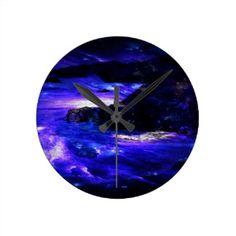 Amethyst Sapphire Indian Dreams Round Clock