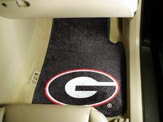 Georgia Bulldogs 27 x 18 Auto Floor Mat (Set of 2 Car Mats): You can add some football… #SportingGoods #SportsJerseys #SportsEquipment