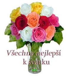 Přání k svátku Obrázky 8 Runes, Glass Vase, Floral Wreath, Wreaths, Facebook, Decor, Pictures, Lawn And Garden, Floral Crown