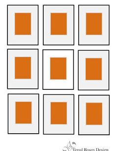 Pin it! Grid picture display. How to display your art - picture grouping ideas   Vered Rosen Design
