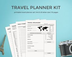 DOODLE Trip Planner / Travel Organizer Printable by SkyGoodies