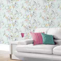Holden Ornithology Birds Wallpaper Blue 98061