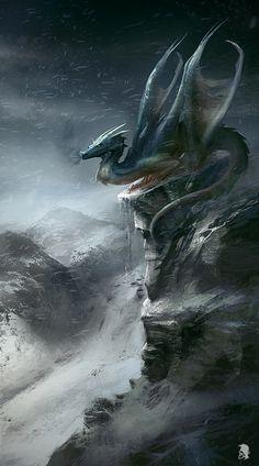 mountain_dragon_by_mikeypetrov-d3gbega.jpg (556×1000)