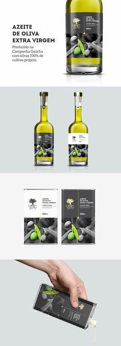 Projeto de programação e identidade visual para rótulos de Azeites Campo D'Ouro