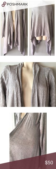 """SOMA HEATHER GREY KNIT OPEN SWEATER CARDIGAN L SOMA HEATHER GREY KNIT OPEN SWEATER CARDIGAN L - 33-47"""" LENGTH - 70% COTTON 30% TENCEL Soma Sweaters Cardigans"""
