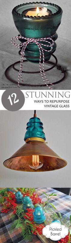 12 Stunning Ways to Repurpose Vintage Glass -