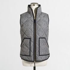 Printed Quilted Puffer Vest | J Crew