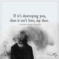 It isn't love.....