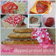 Six Valentine's Day Kid Food Ideas for Breakfast, lunch and snacks. Easy #valentines Treats