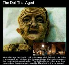 This being known, there are still many who believe that the way this doll has 'aged' is something more, something infinitely creepy – something paranormal. Creepy Stories, Ghost Stories, Horror Stories, Paranormal Stories, Creepy Facts, Fun Facts, Creepy Things, Scary Stuff, Funny Stuff