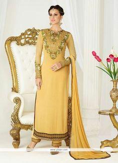Mustard Georgette Pant Style Suit Model: YOS7760