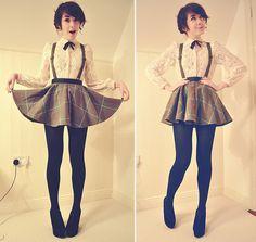 Skirt Outfits Dressy Short 36 Ideas Source by Kawaii Fashion, Lolita Fashion, Cute Fashion, Fashion Outfits, Style Fashion, Womens Fashion, Skirt Outfits, Cool Outfits, Cute Outfits With Skirts
