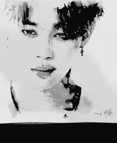 love love LOVE the simplicity of this art. #jimin #WINGS #LIE
