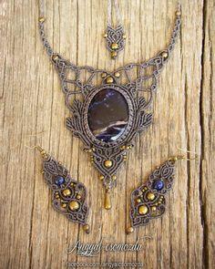 "277 Likes, 1 Comments - Anemoona (@anemoona_jewelry) on Instagram: ""#angyalcsomozda #micromacrame #macrame #necklace #macramenecklace #earrings #macrameearrings #stone…"""