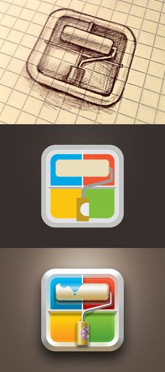 Development of an App Logo Design Game Design, Web Design, App Icon Design, Ui Design Inspiration, Logo Design, Identity Design, Flat Design, Badges, Ios Icon