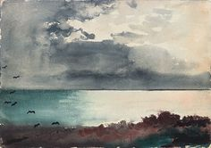 Breaking Storm Coast Of Maine Art Print by Winslow Homer. All prints are professionally printed, packaged, and shipped within 3 - 4 business days. Cleveland Museum Of Art, Art Institute Of Chicago, Watercolor Landscape, Watercolor Paintings, Watercolors, Winslow Homer Paintings, Graffiti, National Gallery Of Art, American Artists