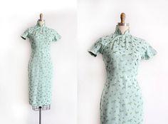 Vintage 30er Jahre Cheongsam Kleid / / 30 s 40 s von TrunkofDresses