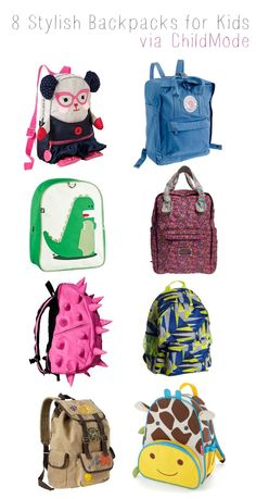 8 Stylish Backpacks for Kids — Child Mode The giraffe one omg 💗 Stylish  Backpacks ad05db891f282