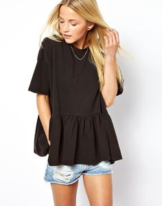 Oversized peplum top