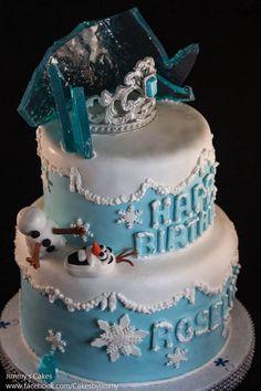 - Disney Frozen Birthday Cake
