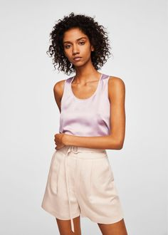 Short pinces - inspiration patron couture short Mouffetard A&A Cool Outfits, Summer Outfits, Mango France, Mango Fashion, Fashion Online, Latest Trends, Short Dresses, Rompers, Moda Femenina