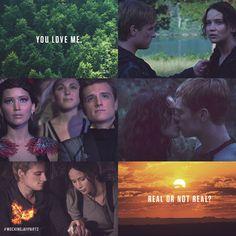 """""""I tell him, 'Real.'"""" - Katniss Everdeen, #MockingjayPart2"""
