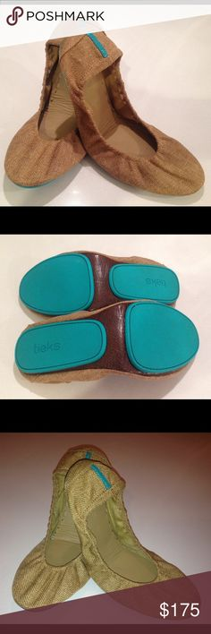 Tieks by Gavrieli Vegans Ballet Flats Size 10 Designer Ballet Flats with non-elasticized cushioned back, rubber soles and cushioned instep. Tieks Shoes Flats & Loafers