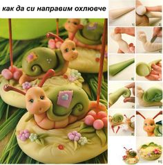 Making fun little snails.  Directions are in Russian, but pictures are easy to follow