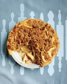 Apple-Sour Cream Crumb Pie - Martha Stewart Recipes