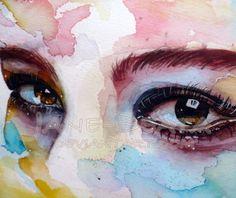 As mulheres e os olhares femininos nas aquarelas de Jana Lepejova